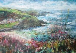 Campions near St Ives (mixed media on board) 90x60cm