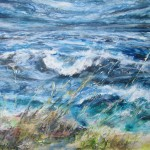 Onshore breeze Start Point (mixed media on canvas) 160x140cm
