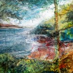 South bank of the Helford River (mixed media on board) 50x50cm