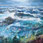 Southerly gale around dawn (mixed media on canvas) 160x120cm