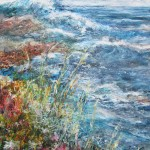 Sudden gale in Start Bay (mixed media on board) 90x60cm